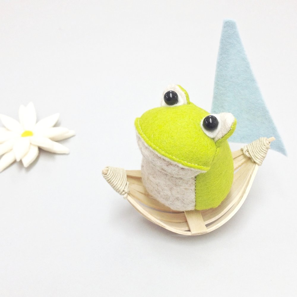 Croaker The Frog by Laura Mirjami Bilberry Woods
