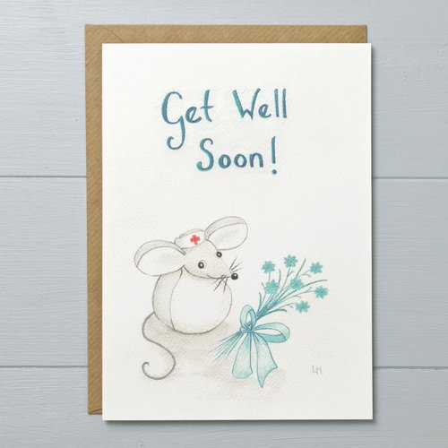 Get well soon mouse greeting card bilberry woods get well soon mouse greeting card m4hsunfo