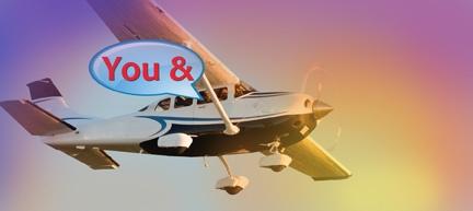 5 Passenger Tour Plane - All Seats have GREAT Views!