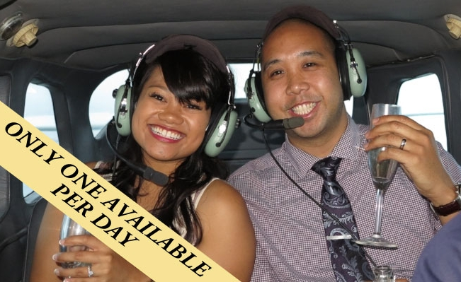 Champagne and Exciting Experience go a long way for VIP Valentines Day Sunset Experience!
