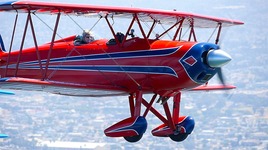 "Great Lakes Biplane with Tour Pilot Col. Earl ""the Pearl"" Wederbrook"