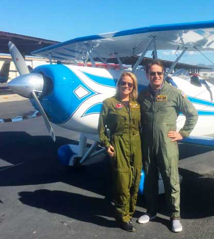 Flight suits and flight equipment are provided. Bring your own sense of adventure!  and smiles.