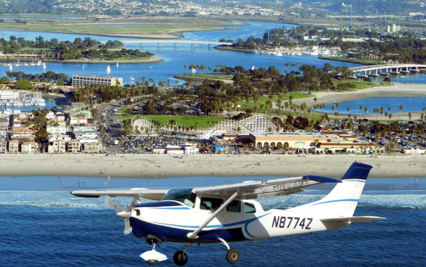 You are able to comfortably sit back relax and enjoy all the sites in our Airplane Ride.