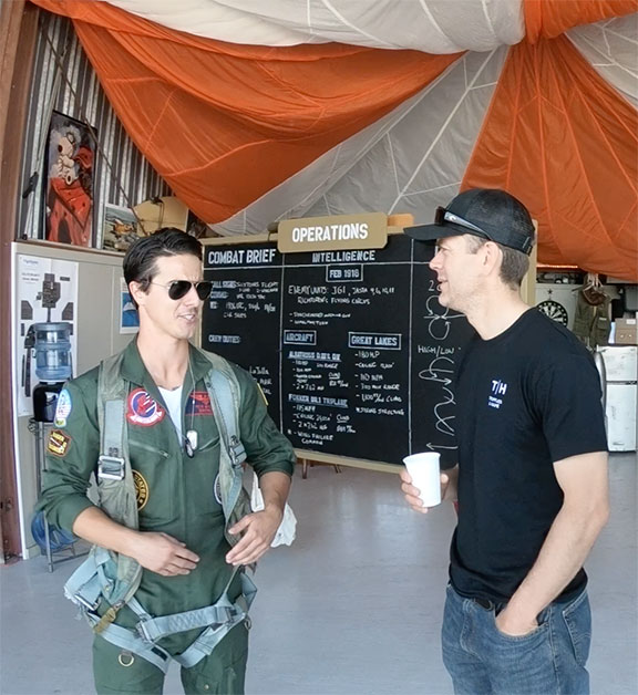 Maverick talks biplane and airplane ride facts