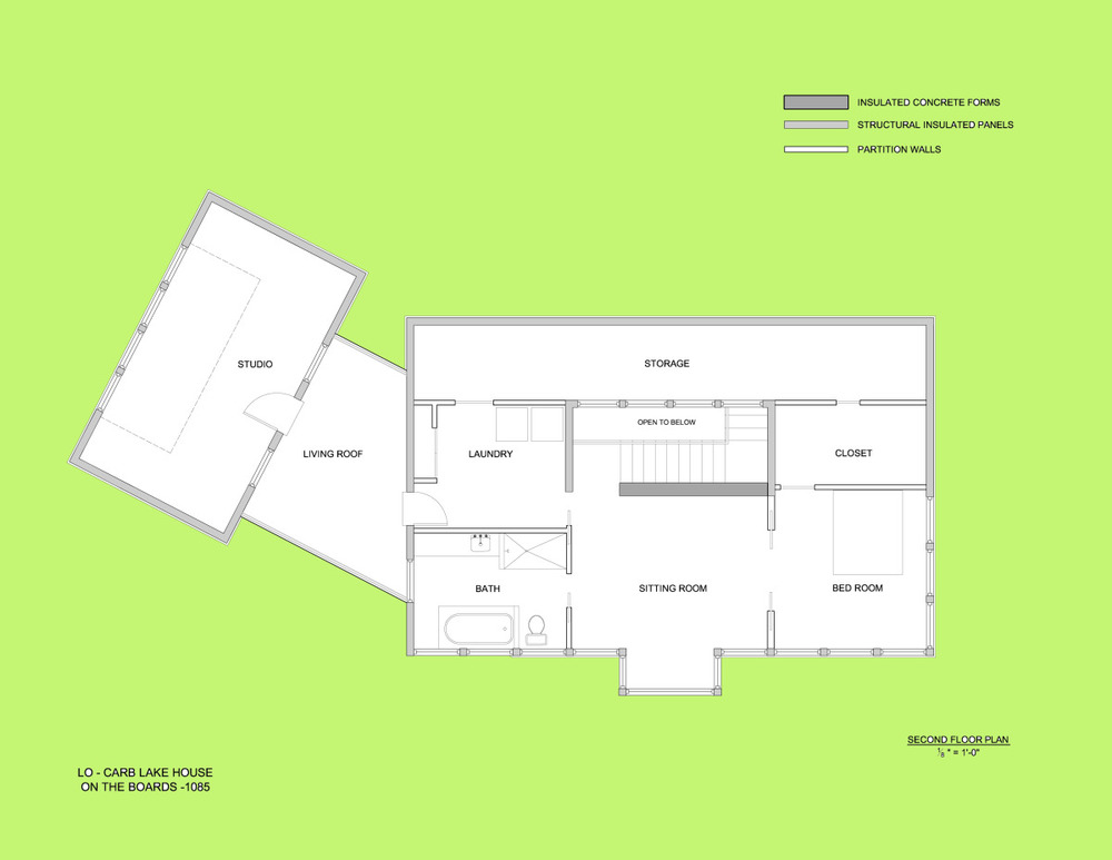 Trillium Architects Lo Carb Lake House Second Floor Plan