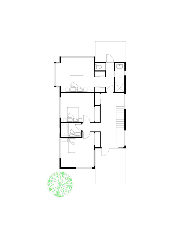 Trillium Architects 2 story modern Second Floor Plan