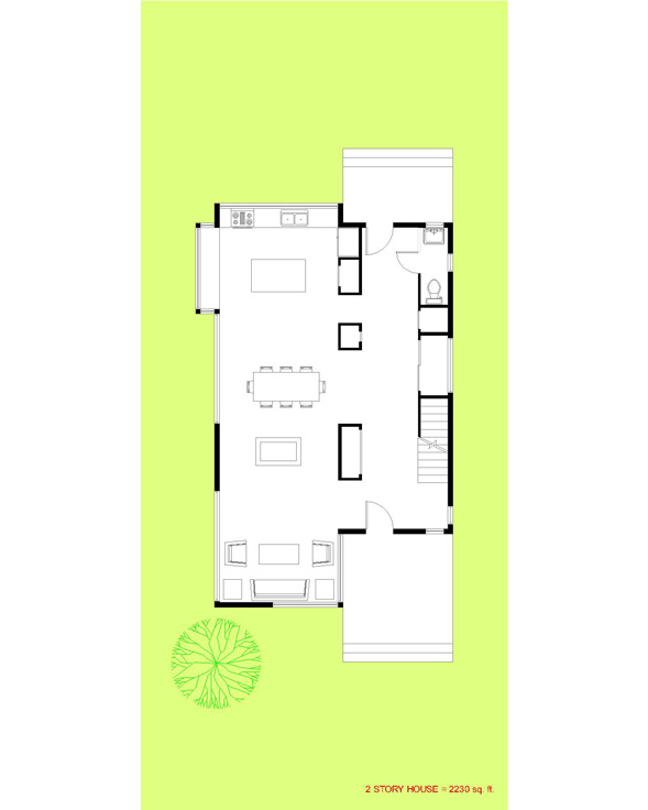 Trillium Architects 2 story modern First Floor Plan