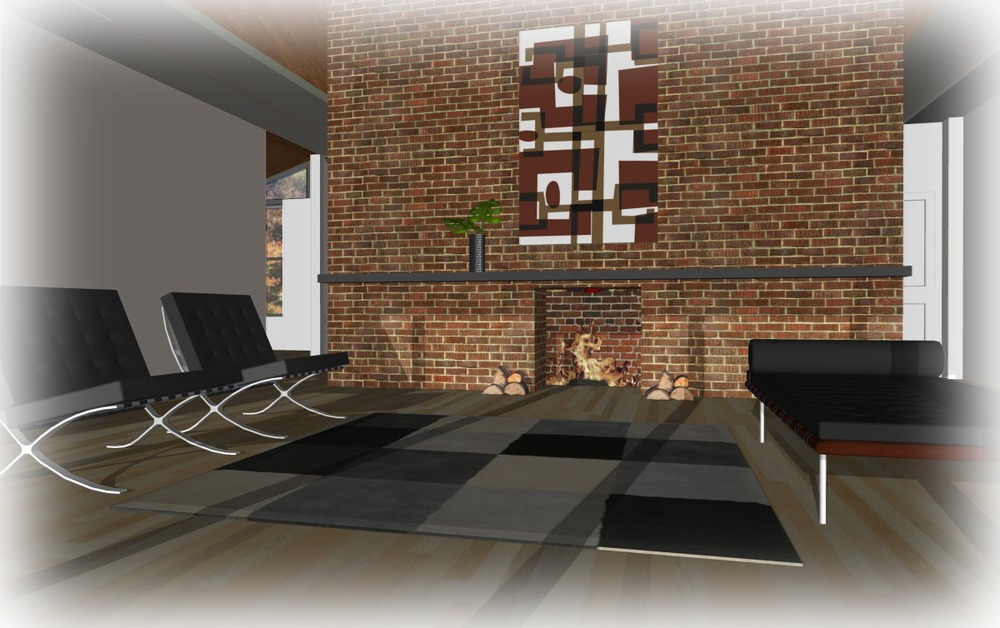 Trillium Architects H House 1 story modern interior Living Room plans