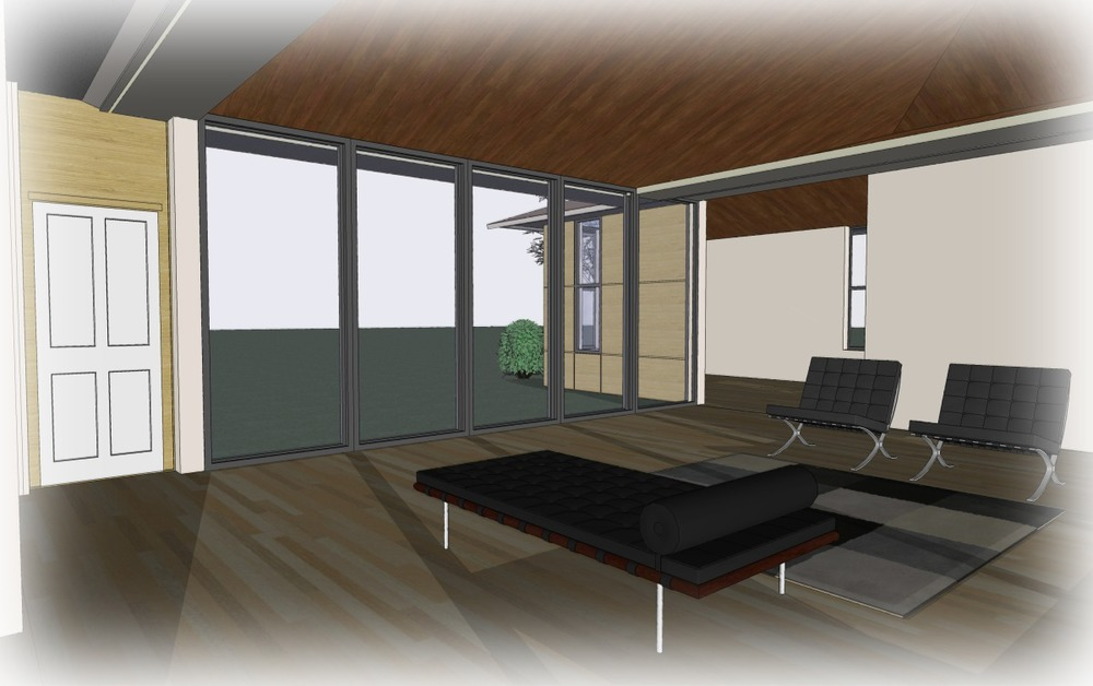 Trillium Architects H House 1 story modern Interior plans