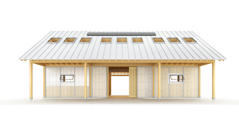 Trillium Architects exterior urban shed front plans
