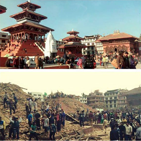 Nepal Earthquake ~ before and after ~ Durbar square