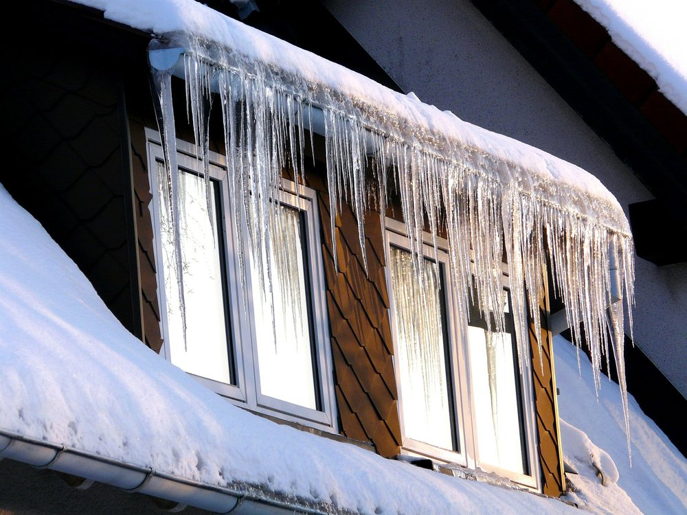 ice dam over roof dormer