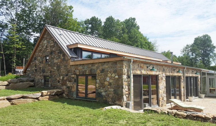 Off The Grid In Litchfield County Trillium Architects - 100-wood-and-stone-house