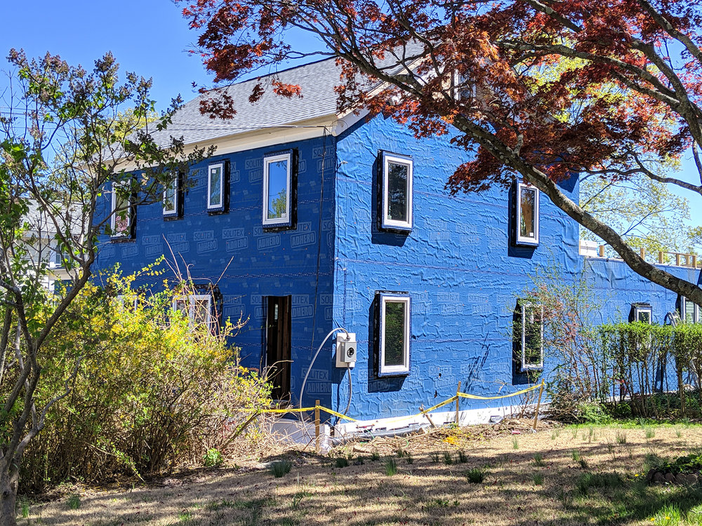 4.24.19 Westchester Passive House exterior blue wrap.jpg