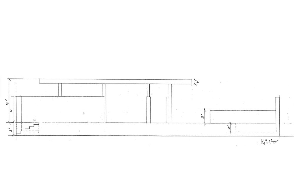 Elevation of the Barcelona Pavilion
