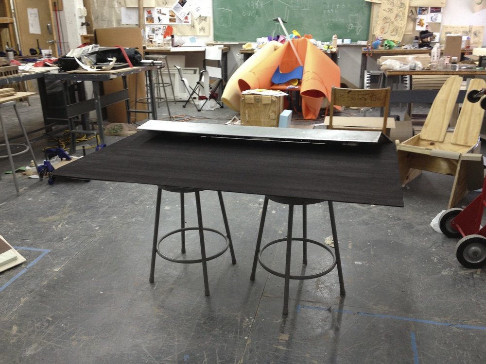 Fitting the table top with the body