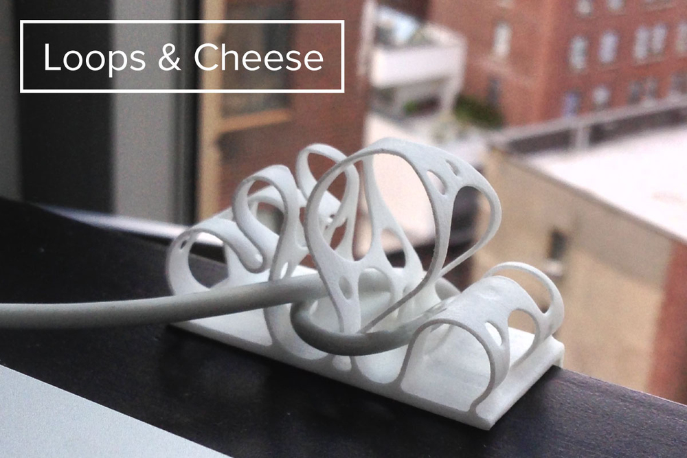 Loops & Cheese Cable Managing Sculpture
