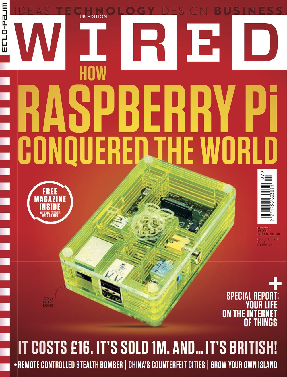 Wired UK July 2013 Cover