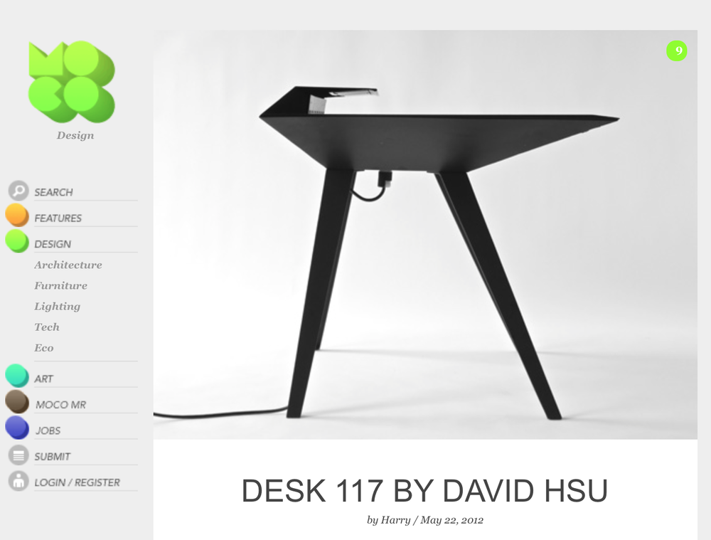 Desk 117 featured on MocoLoco