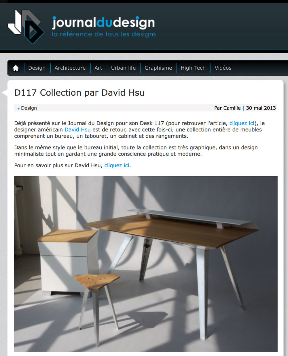 D117 Collection on Journal du Design
