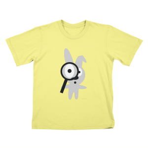 Wabbit with Magnifying Glass Kids T-Shirt