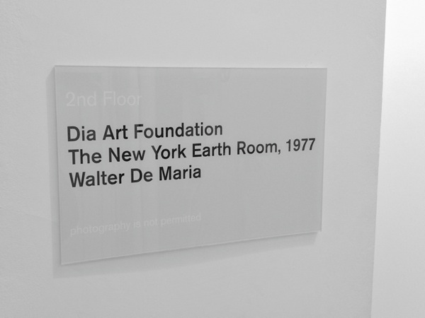 Walter de Maria: The New York Earth Room