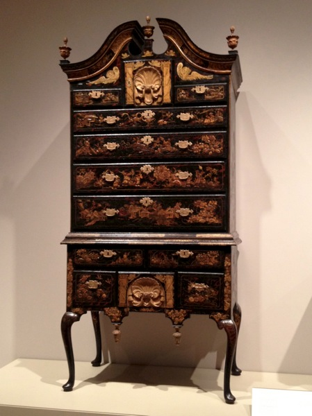 Chest of Drawers with Japanning