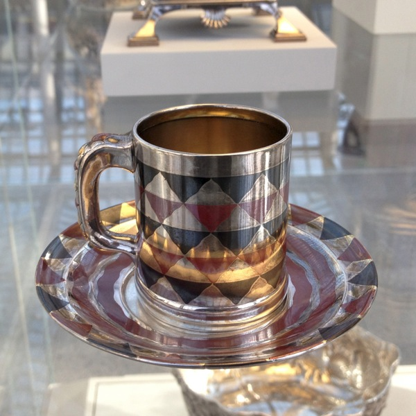 Tiffany's Cup and Saucer with niello