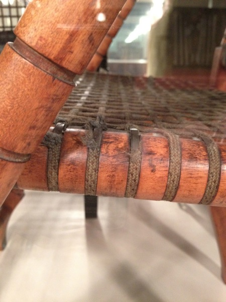 Closeup of Arm Chair's Stee Mesh