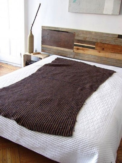 Salvaged Wood Bedboard