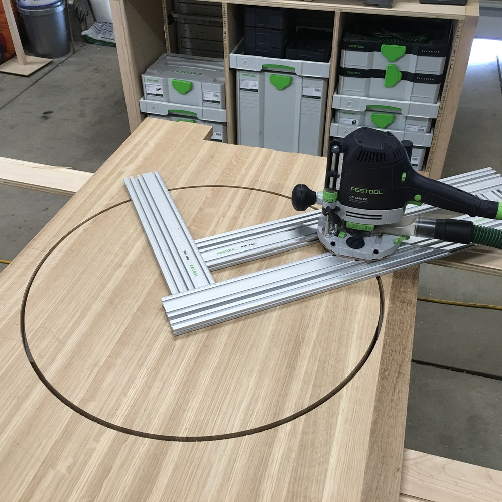 Festool OF1400  and  MFS adjustable templates  to the rescue!