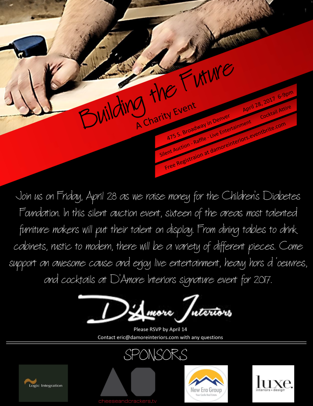 D'Amore Interiors' Event Flyer