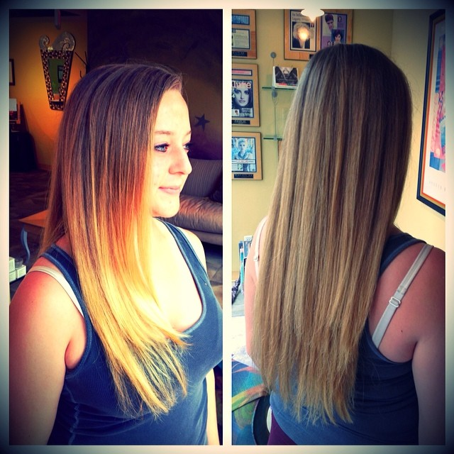 It looks like we have some openings today! We know that it's pretty chilly and frustrating outside... But we could help lighten up your day a bit :) Check out this gorgeous Ombré! #ombre #haircolor #style #cute #annarbor