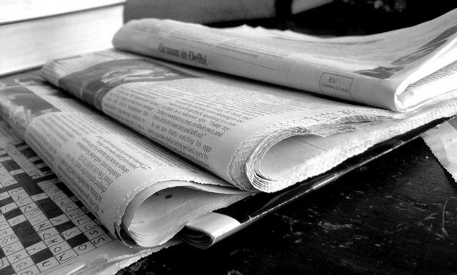 Newspapers B&W (2)   by  Jon S  ( CC )