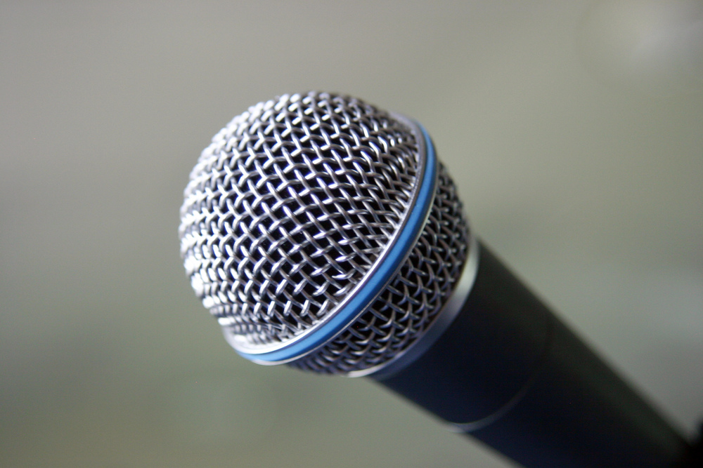 Microphone Close-up  by David Niblack,  http://www.imagebase.net/