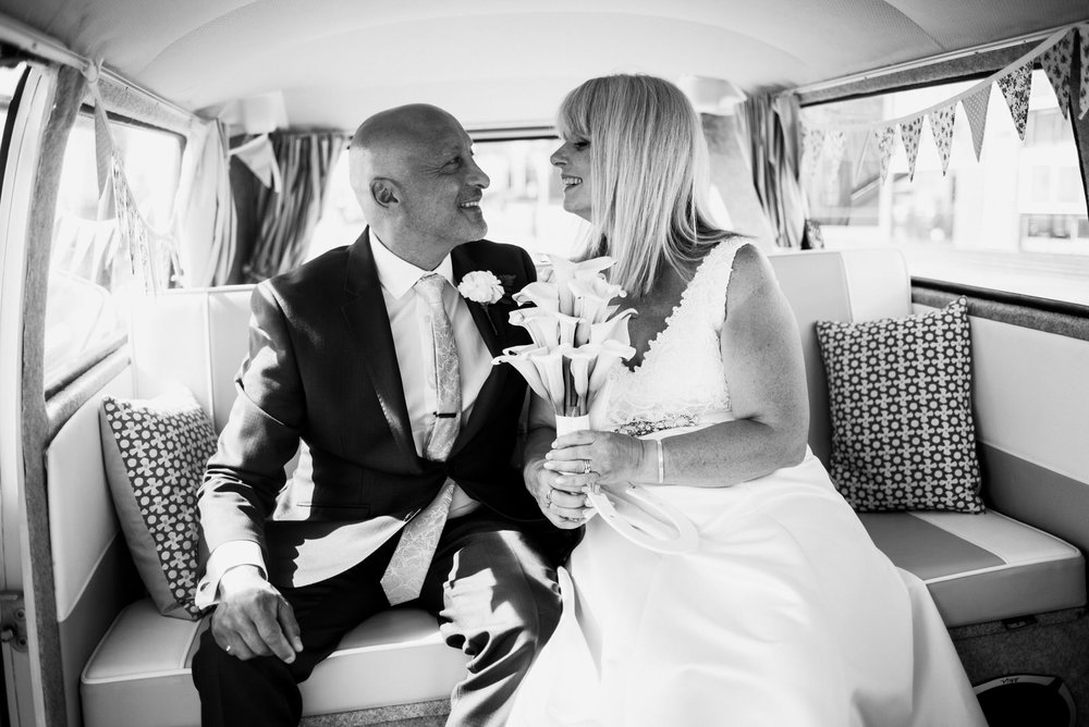 """Kathy & Alan - """"Antony photographed our wedding last June and we could not be more pleased with the results! He has that quality of being inconspicuous whilst capturing every moment! Also very pleased with his creativity; he suggested shots and scenery that we would not have thought of and the results are stunning! He is also very considerate and respectful to the wedding guests when trying for that perfect shot! We were so impressed, we have asked Antony to do a family photo session this year!"""""""