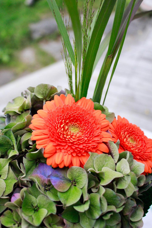 Vackra blommor som Henge kom med.