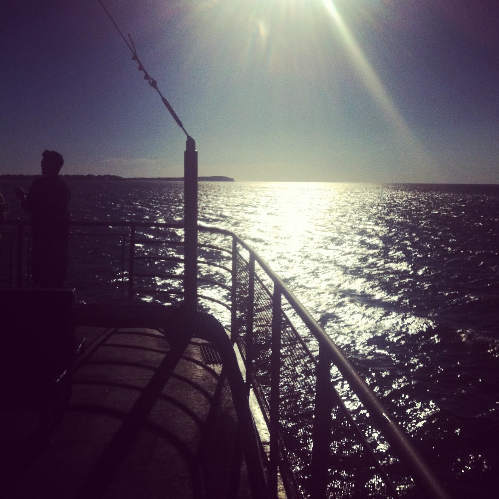 Beautiful day, 4 ferry rides in all..