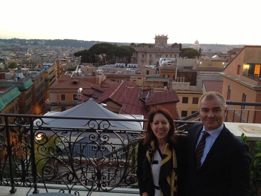 Rome, Regina Baglioni rooftop