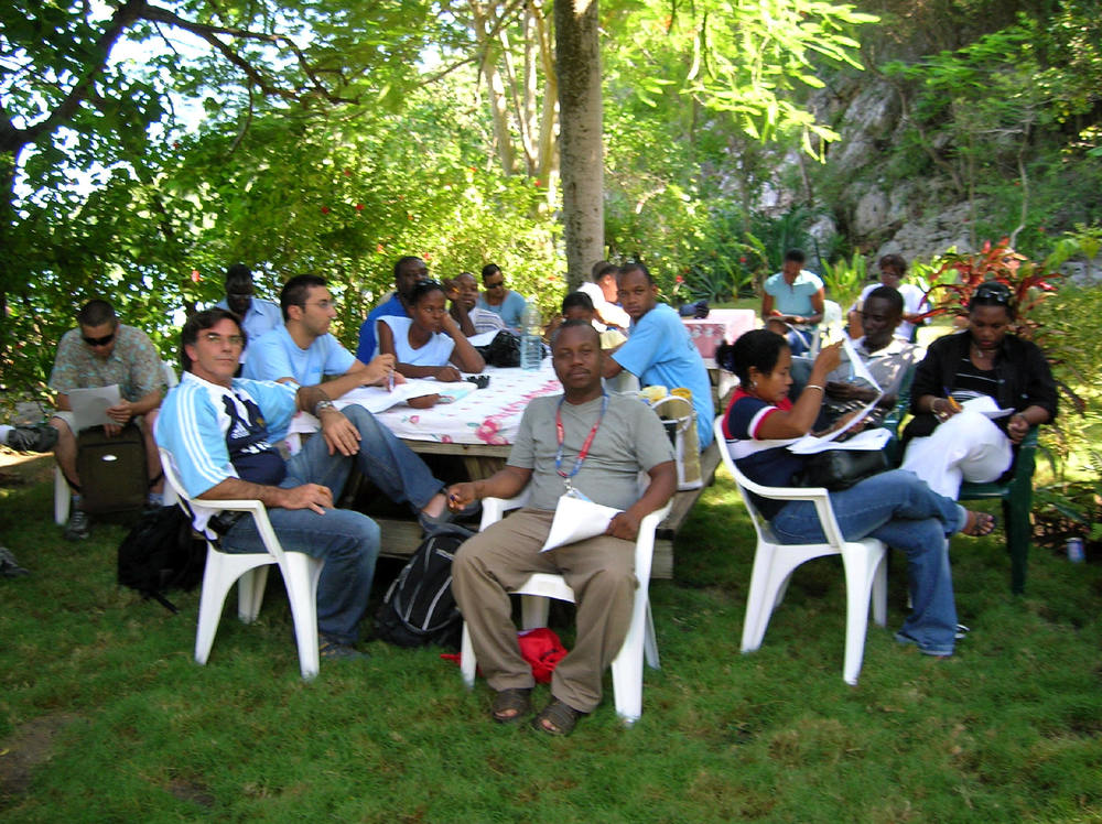 Stressbusters course in Cap Haitian, Haiti developed and facilitated by Dr. Center as part of her work with the United Nations Volunteer Program