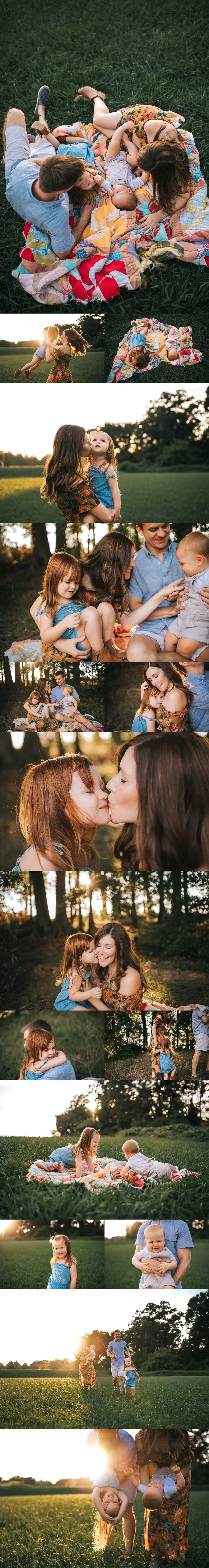 charlotte family sunset session
