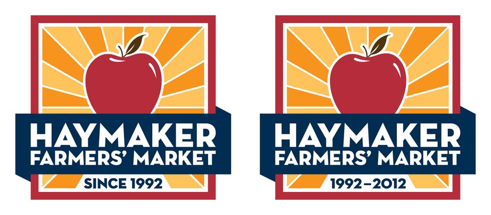 Haymaker Farmers' Market — Red Alternate Logos