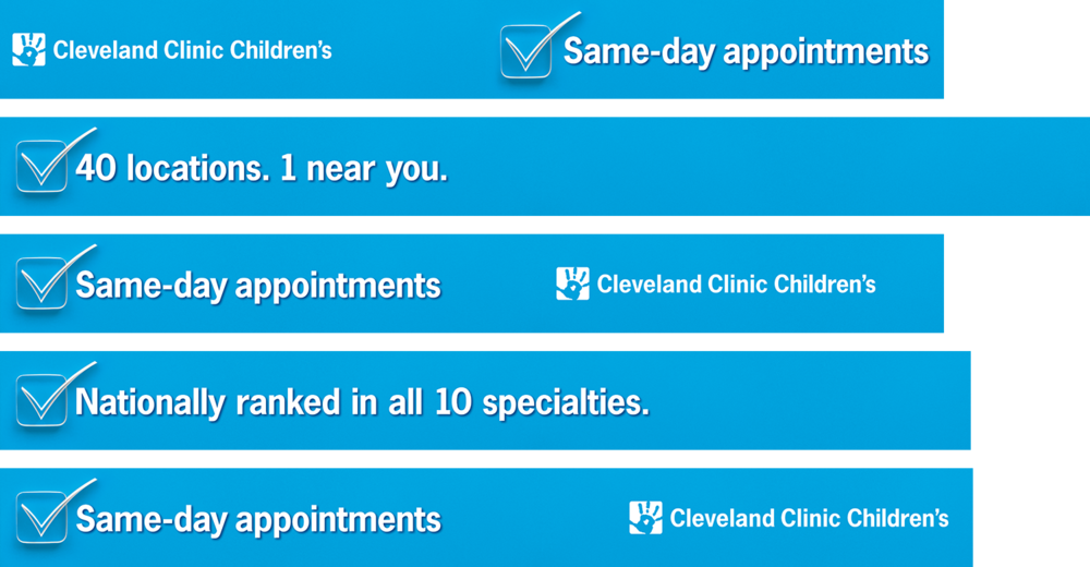Cleveland Clinic Children's OOH — Bulkhead Panels