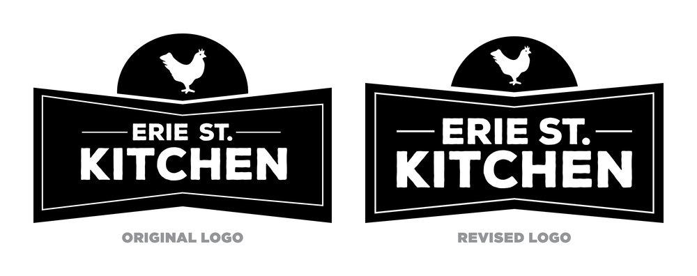 Erie Street Kitchen — Logo Comparison