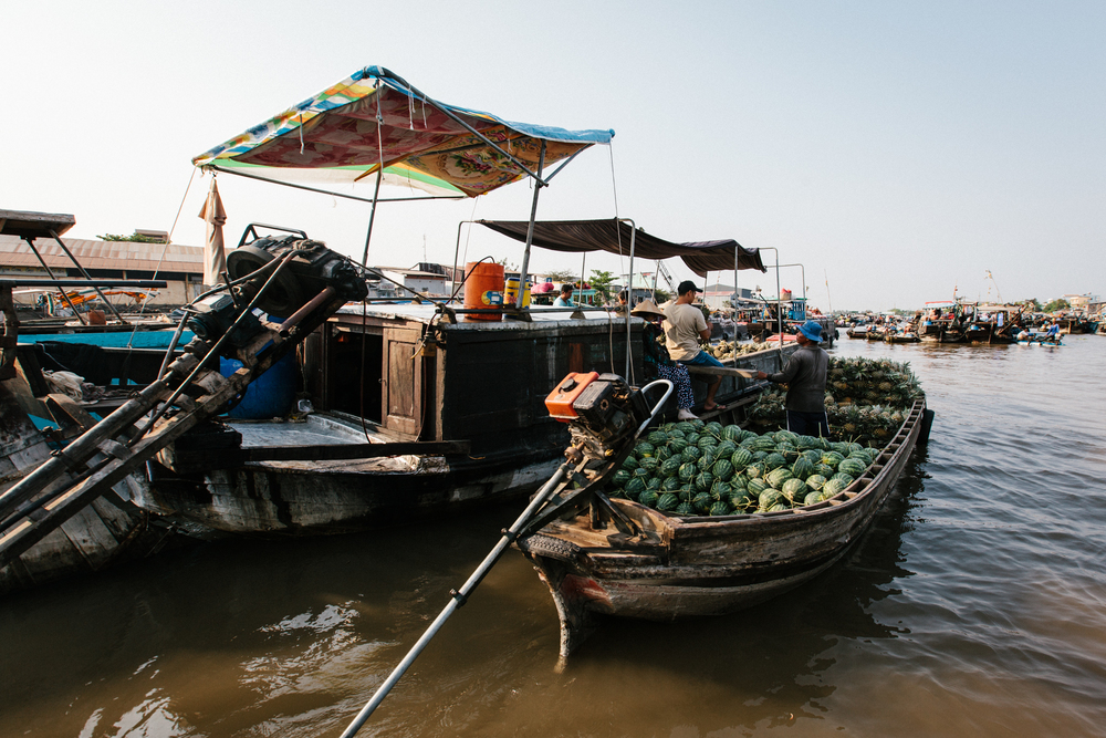"The Can Tho floating market is pretty ""typical"" for Vietnam"