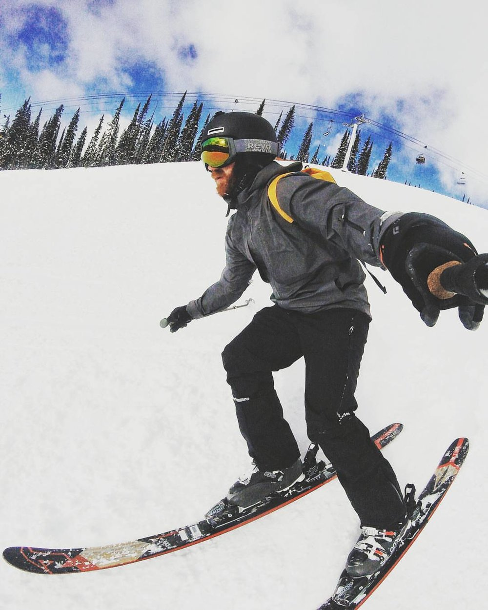 Practice skills at home in your socks before hitting the slopes. This can provide a huge benefit when adding downhill speed into the equation.