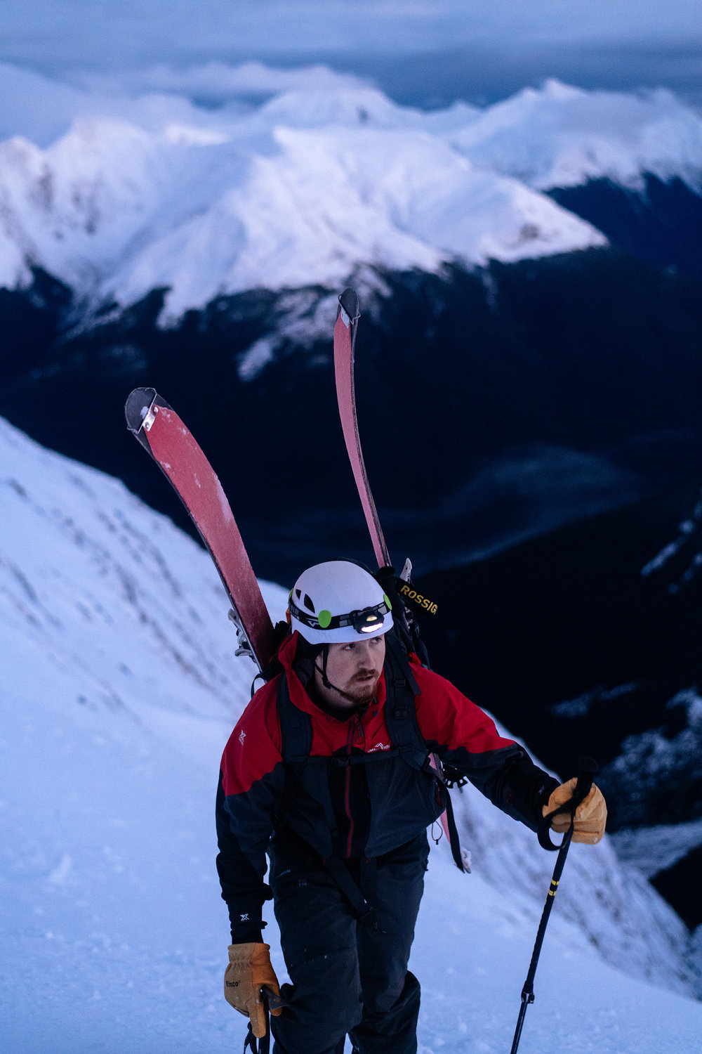 Brando and I met through Instagram; he became a great partner during my ski-mountaineering season in New Zealand.