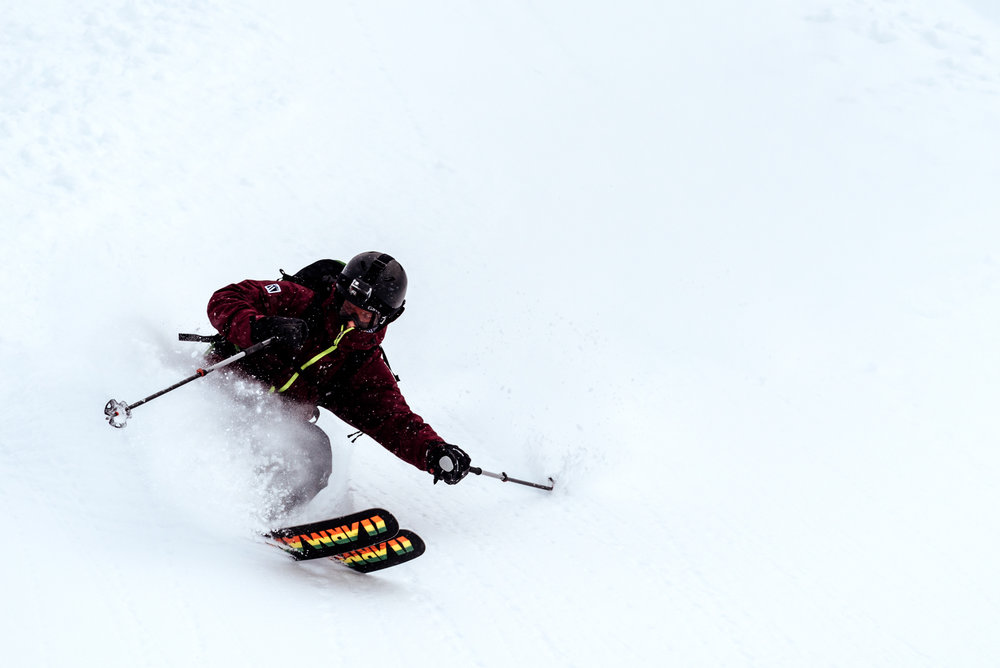 Fat skis are great for skiing and breaking trail in deep powder, but they are heavier than skinnier skis.