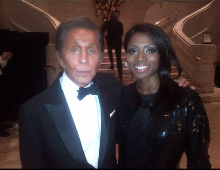 (yup, that's my mama and Mr. Valentino himself)