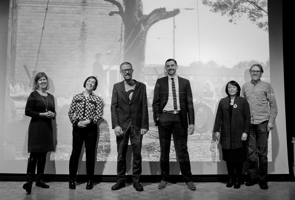 Panelists: Heather Cowie, Julie Guimond, Jeremy Klazus, Evan Dickinson, Cynthia Watson, Kris Fox (image: Jesus Martin Ruiz)